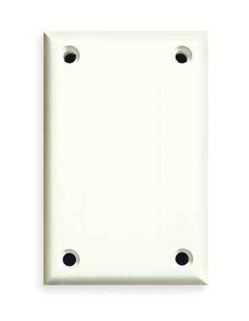 Security Blank Wall Plate, 1 Gang, White