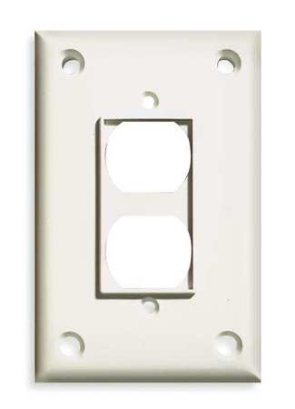Security Duplex Wall Plate, 1 Gang, White