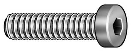 "1/4""-20 x 1/2"" Black Oxide Alloy Steel Low Socket Head Cap Screw,  100 pk."