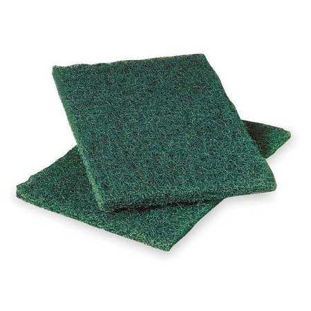 "Scouring Pad, Green, 9"" L, 6"" W, PK12"
