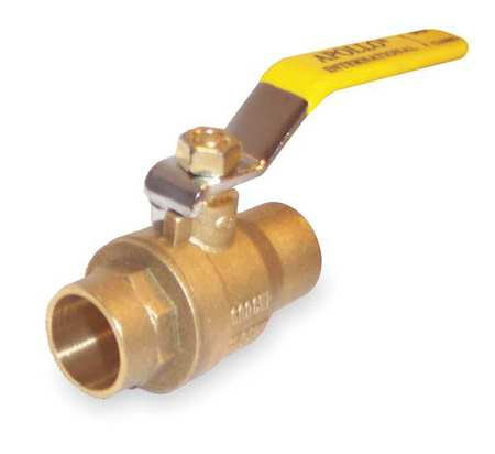 "4"" Sweat Brass Ball Valve Inline"