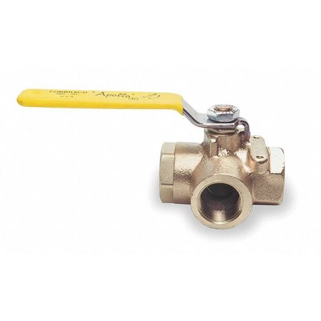 "1/4"" FNPT Bronze Ball Valve 3-Way"