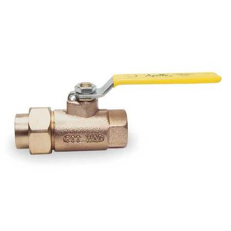 "1/2"" FNPT Bronze Ball Valve Inline Single Union"