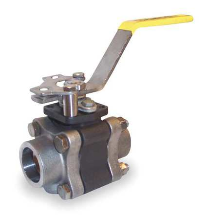"1-1/2"" Socket Carbon Steel Ball Valve Inline"