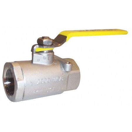 "2"" FNPT Stainless Steel Ball Valve Inline"