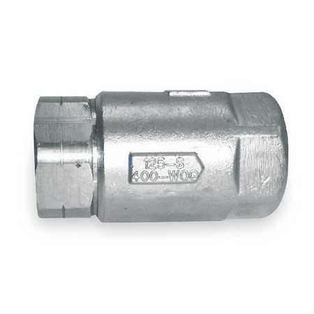"3/8"" FNPT Stainless Steel Ball Cone Spring Check Valve"
