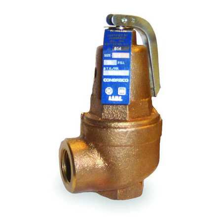 Safety Relief Valve, 3/4 In, 30 psi, Bronze
