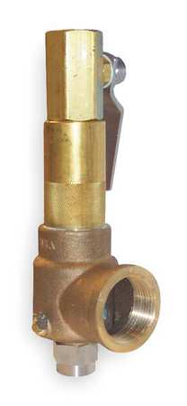 POP Safety Valve, 1/2 x 3/4 In, 450 psi