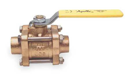 "1-1/2"" Sweat Bronze Ball Valve Inline"