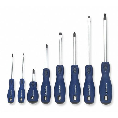 Screwdriver Set, Slotted/Phillips, 8 Pc