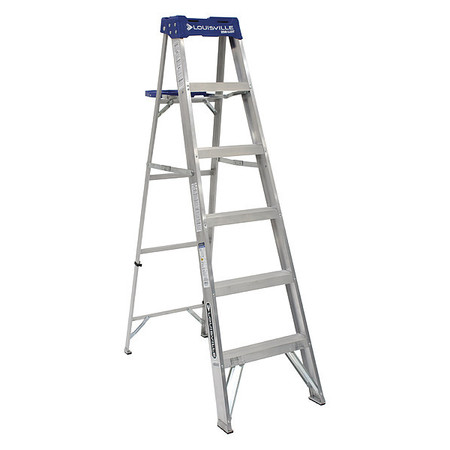 6' Aluminum 250 lb. Stepladder,  Type I
