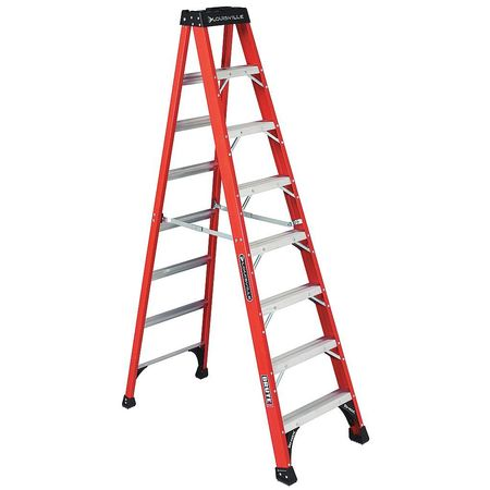 Stepladder, Fiberglass, 8 ft. H, 375 lb Cap