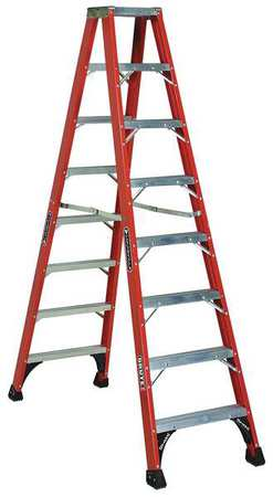 8' Fiberglass 375 lb. Twin Stepladder,  Type IAA