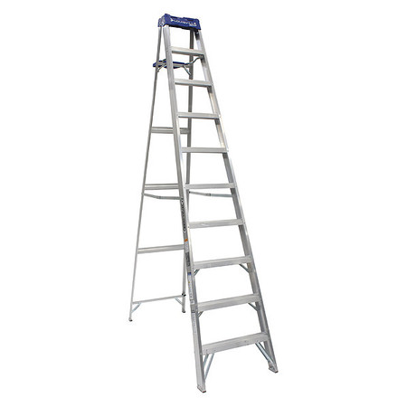 10' Aluminum 250 lb. Stepladder,  Type I