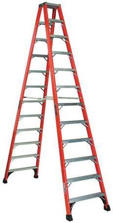 12' Fiberglass 375 lb. Twin Stepladder,  Type IAA