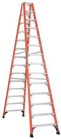 14' Fiberglass 375 lb. Twin Stepladder,  Type IAA