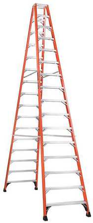 16' Fiberglass 375 lb. Twin Stepladder,  Type IAA