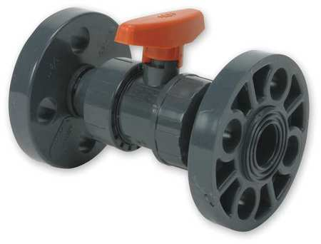 "4"" Flanged PVC Ball Valve Inline True Union"