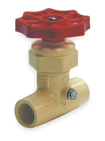 Stop and Waste Valve, 3/4 In, Solvent