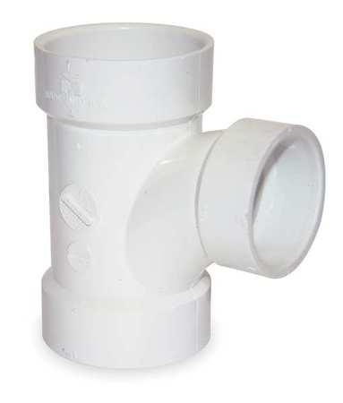 """2"""" x 1-1/2"""" x 1-1/2"""" Hub PVC DWV Sanitary Tee"""
