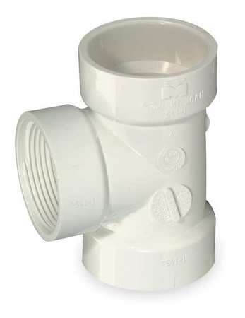 "3"" FNPT x Hub x Hub PVC DWV Flush Clean Out Tee"