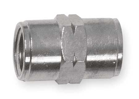 "1/2"" FNPT Nickel Brass Coupling"