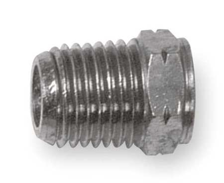 "1/8"" x 10-32 MNPT Nickel Brass Reducing Bushing"
