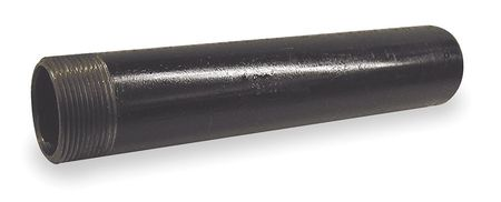 "1/2"" x 3"" NPT Threaded One End Black Pipe Nipple Sch 80"