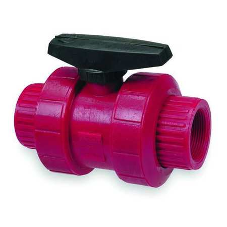 "1"" Socket Kynar Ball Valve Inline"