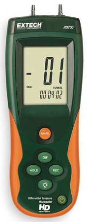 Handheld Manometer, 0 to 55.40 In WC