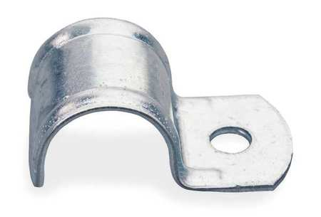 One Hole Clamp, 3/8 In Pipe Sz, Steel