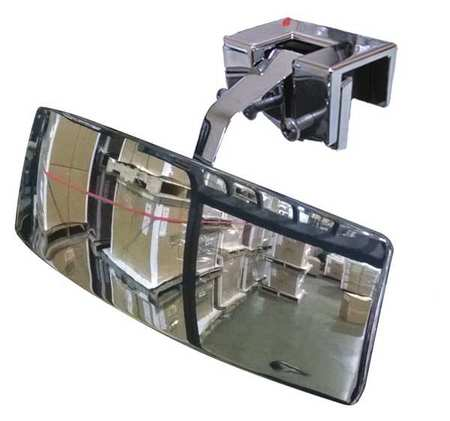 Vehicle Rear View Mirror, 2x8 In