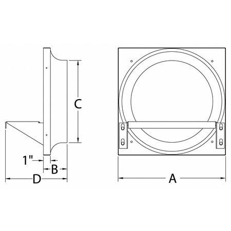 exhaust fan venturi frame 28x28 galv