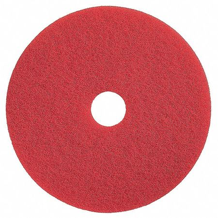 Buffing Pad, 16 In, Red, PK5