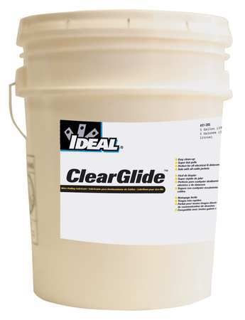 Ideal Wire Pulling Lubricant, 5 gal. Bucket, Clr 31-385 | Zoro.com