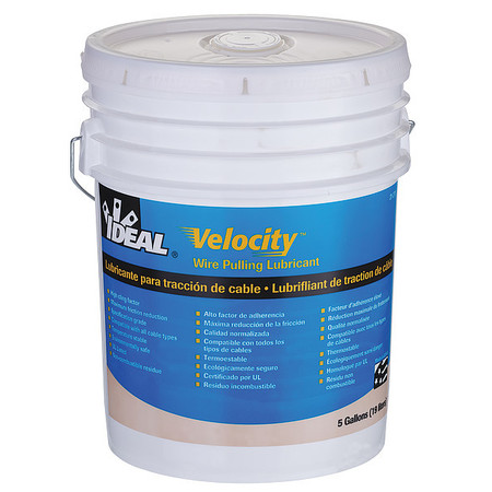Ideal Wire Pulling Lubricant, 5 gal. Bucket, Wht 31-278 | Zoro.com