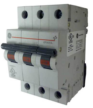 3P IEC Supplementary Protector 30A 277/480VAC