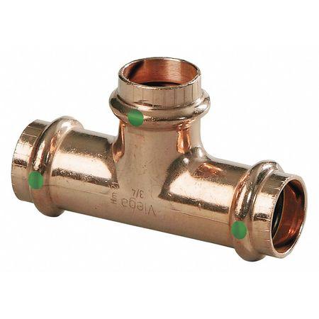 "Details about  /Viega 77457 1-1//2/"" x 1-1//2/"" x 1-1//2/"" P1 x P2 x P3 ProPress Copper Tee Fitting"