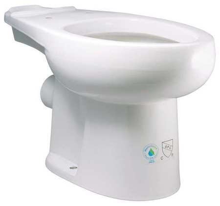 Toilet bowl, white, elongated, HET, 1.28 GPF