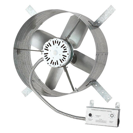 Dayton 1650 Cfm Gable Mount Attic Fan 120v 10w199 Zoro Com