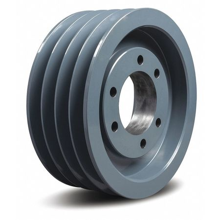 "1/2"" - 2-1/2"" Bushed Bore 4 Groove V-Belt Pulley 8"" OD"