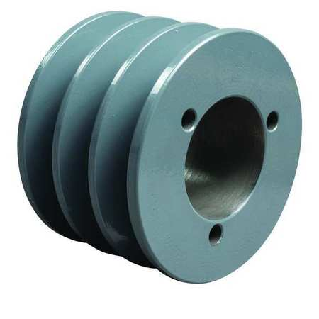 "1/2"" - 1-5/8"" Bushed Bore 3 Groove V-Belt Pulley 3"" OD"