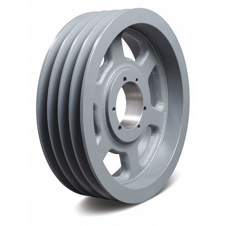 "1"" - 3-15/16"" Bushed Bore 4 Groove V-Belt Pulley 28"" OD"