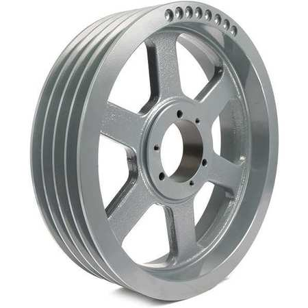 "7/8"" - 3-1/2"" Bushed Bore 4 Groove V-Belt Pulley 14"" OD"