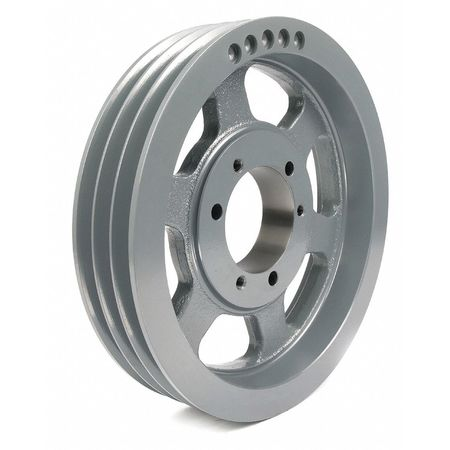 "7/8"" - 3-1/2"" Bushed Bore 3 Groove V-Belt Pulley 14.4"" OD"