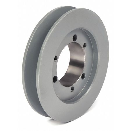 "1/2"" - 1-15/16"" Bushed Bore 1 Groove V-Belt Pulley 6.55"" OD"