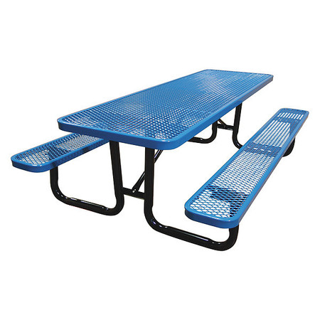 Leisure Craft Inc Portalbe Stnd Picnic Table 8ft Blue T8xpp Zoro