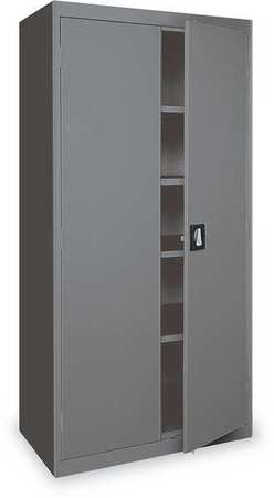 Storage Cabinet, Charcoal, 78 In H, 48 In W