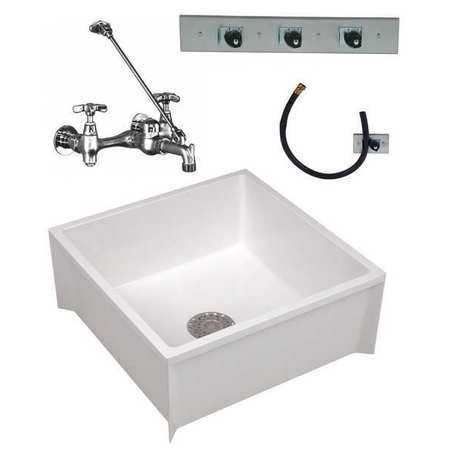 Mustee Durastone R Mop Sink Kit With Faucet Bowl Size