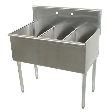 Advance Tabco Floor Mount Utility Sink Stainless Steel Bowl Size 12 X 21 4 3 36 Zoro